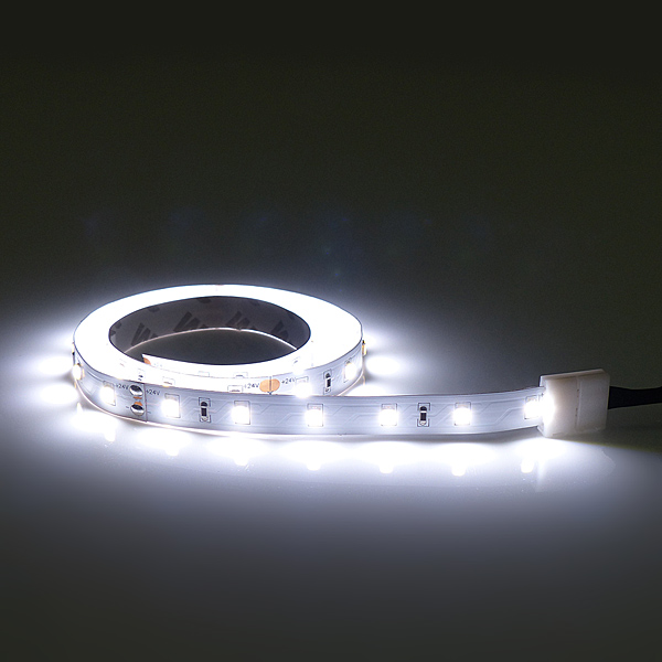 Flexible LED Leiste kalt weiß mit 60 Flat Top LEDs/m